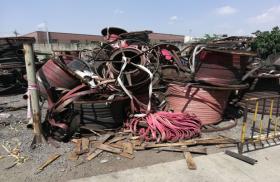 出售青白江报废扁平铜芯电缆约20吨